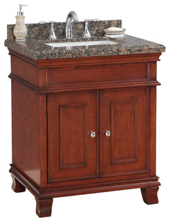 Mission hills middleton bath vanity with sink red for Bathroom cabinets quebec