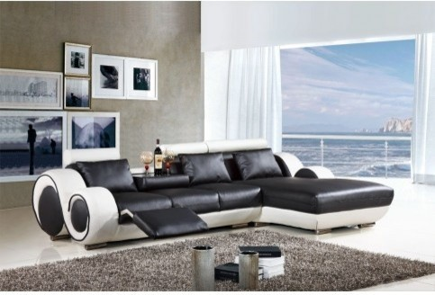 Tosh Furniture Modern Italian Design Leather Franco Sectional Sofa : tosh sectional - Sectionals, Sofas & Couches