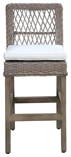 Panama Jack Seaside Barstool With Cushion Tropical Bar