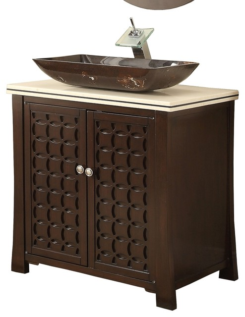"Giovanni Vessel Sink Vanity Cabinet, 30"" - Contemporary - Bathroom Vanities And Sink Consoles ..."