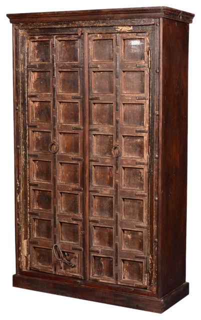 Primitive Gothic Reclaimed Wood 71 5 Armoire Wardrobe Cabinet