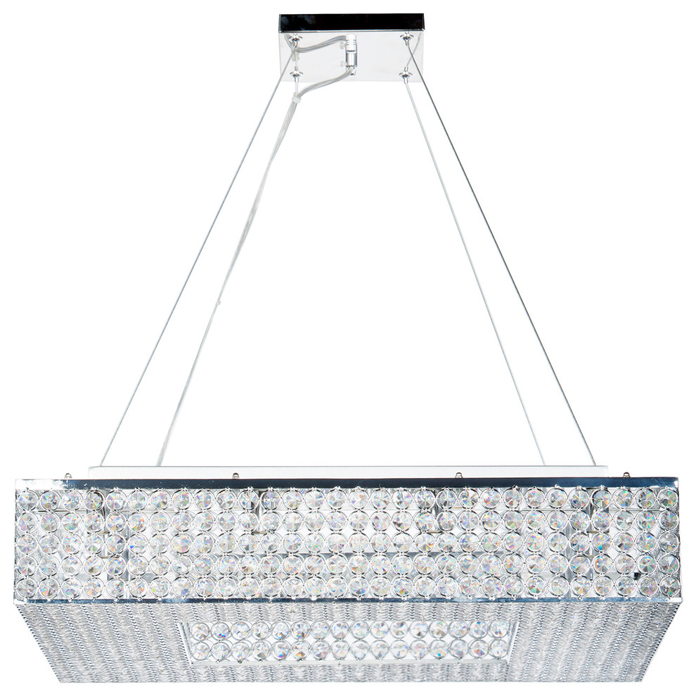 Finesse Decor Crystal Square Chandelier
