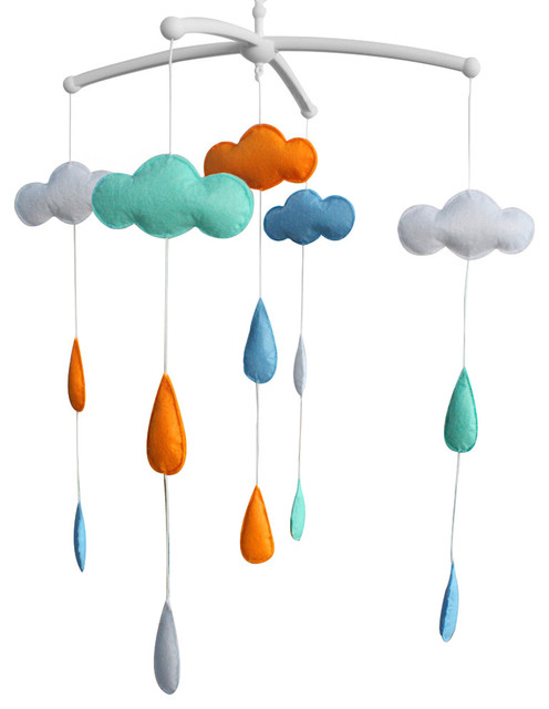 [Clouds] Crib Mobile Crib Hanging Bell Infant Musical Toy Crib Decor  contemporary-baby - Clouds] Crib Mobile Crib Hanging Bell Infant Musical Toy Crib