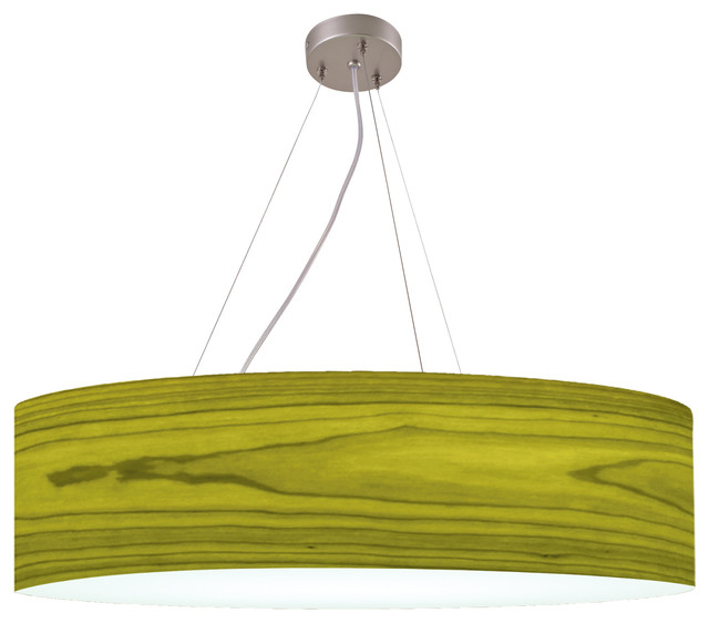 Icono Lighting Drumxl Series Pendant Lamp, Green, Medium.