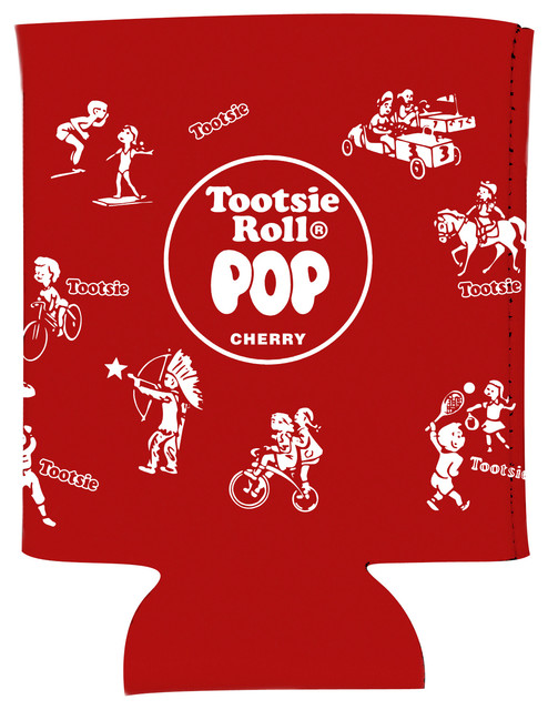 Tootsie Pop Red Wrapper Koozie Modern Drink Sleeves By