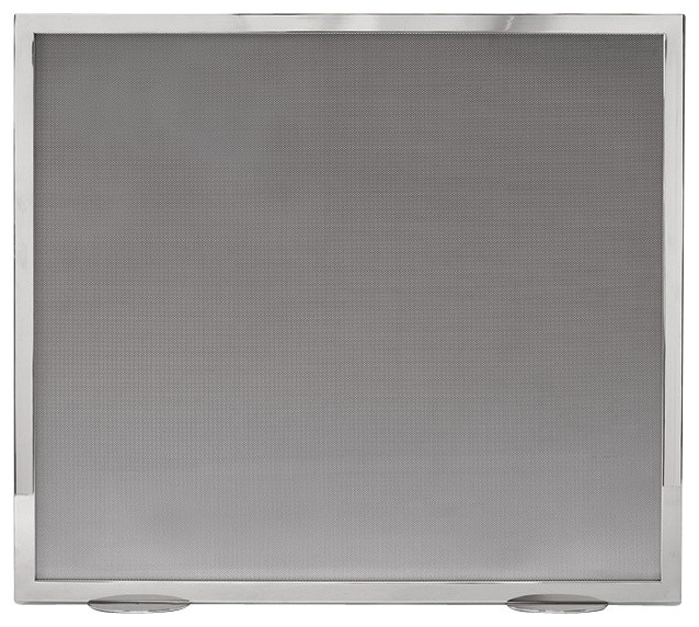 Stainless Steel Fireplace Screen - Contemporary - Fireplace ...