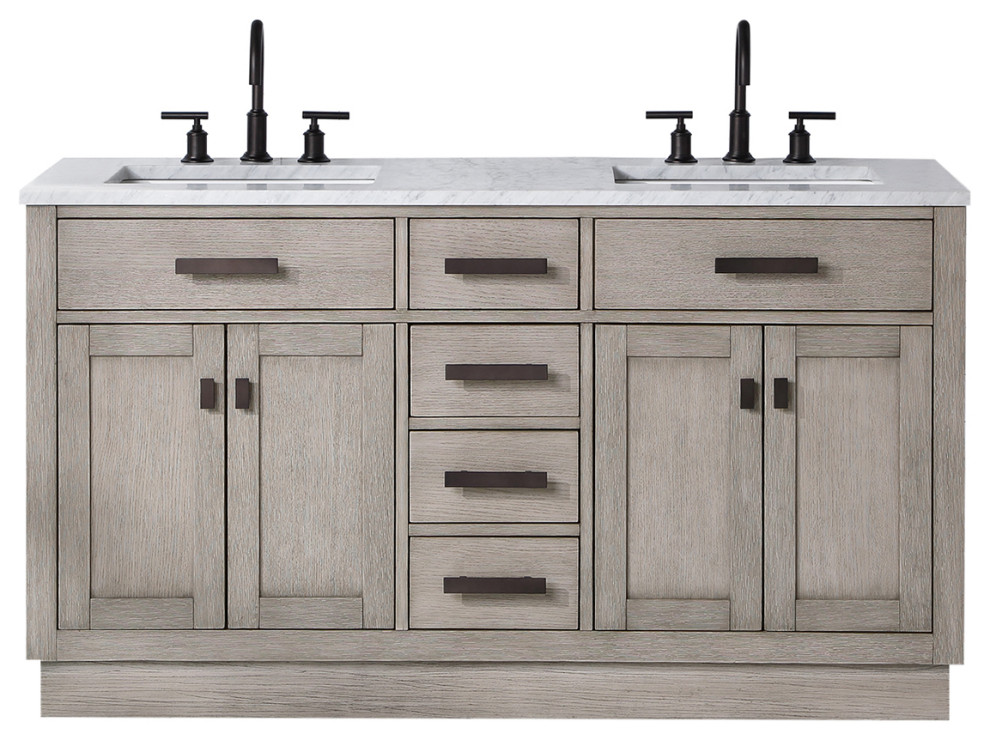 Chestnut 60 Bath Vanity Transitional Bathroom Vanities And Sink Consoles By Water Creation Houzz