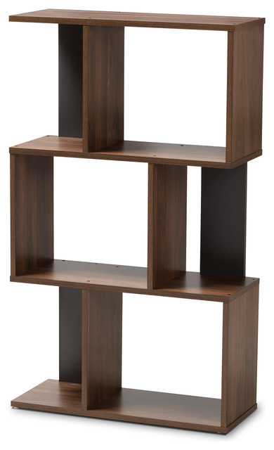 Legende Brown And Dark Gray Display Bookcase.