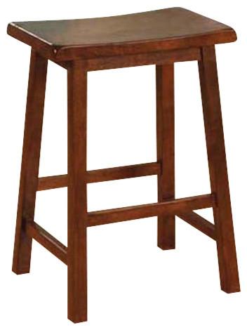 Monarch Specialties I 1541 Walnut 24 Quot Saddle Seat Bar