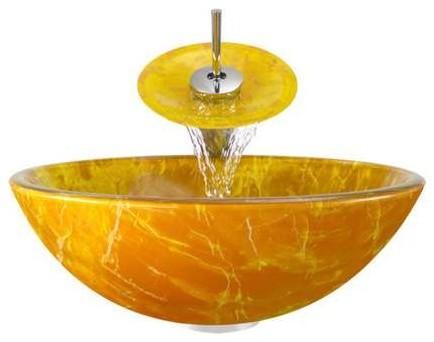 Glass Vessel Cp Bath Ensemble Pop Up Drain.