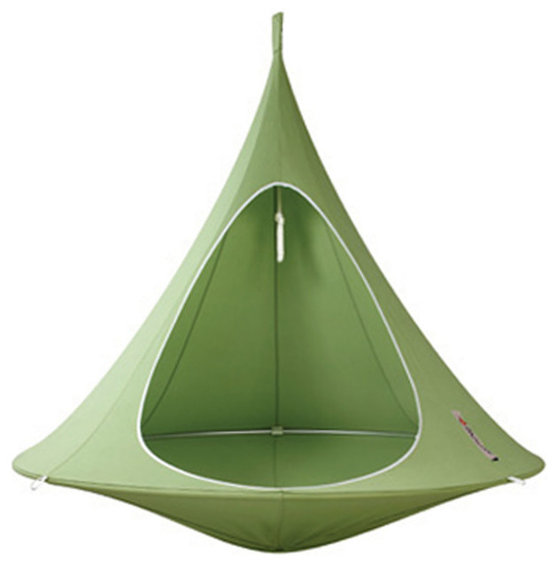 Vivere Home Patio Garden Kids Bonsai Hanging Chair, Leaf Green.