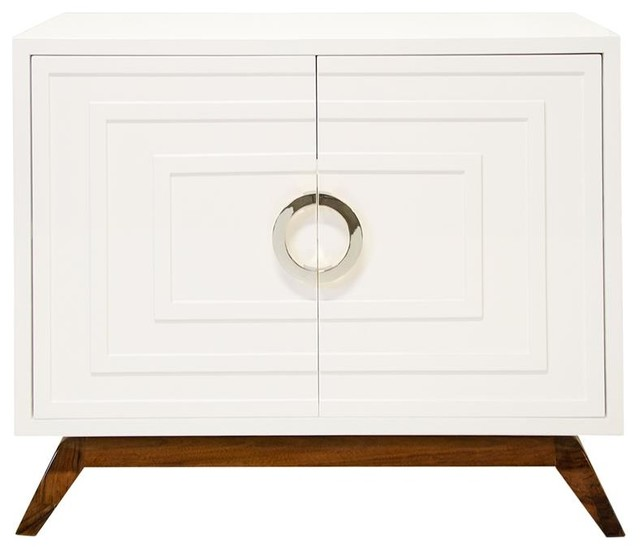 Harrison Hollywood Regency White Lacquer Brass Media