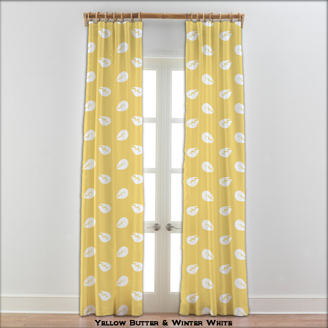 Cowry Cowrie Shell Curtains In Yellow And White