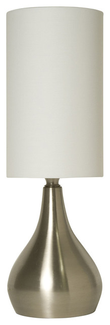 Modern Table Lamp 18 Inches Tall, 3-Way Switch Feature And White Shade.