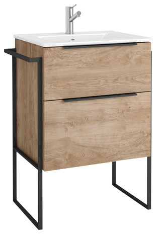 Eviva Marina 24 Natural Oak Vanity Industrial Bathroom Vanities And Sink Consoles By Decors R Us Houzz