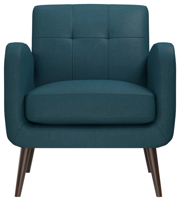 Modern Unique Accent Chairs.Kenneth Mid Century Modern Arm Chair Peacock Blue