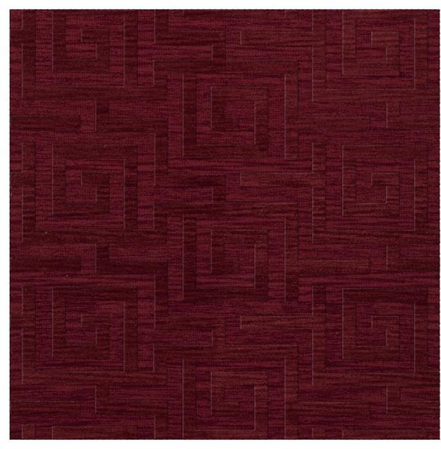Dover Rich Red Dv13 Area Rug Contemporary Area Rugs