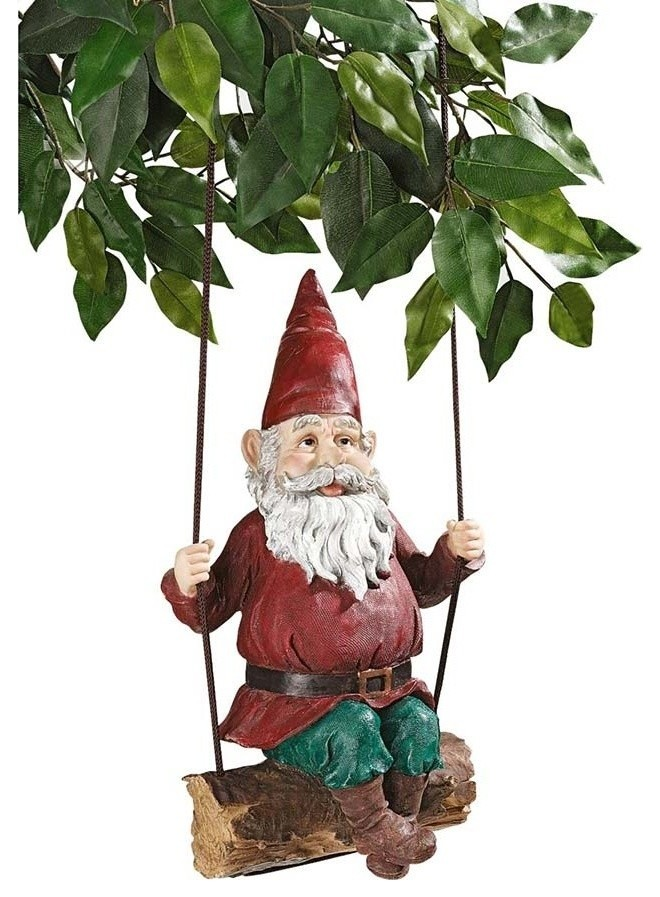 Sammy The Swinging Gnome Contemporary Garden Statues And Yard Art By Xoticbrands Home Decor Houzz