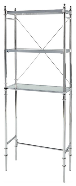 Metal and Mirror Shelf, Chrome