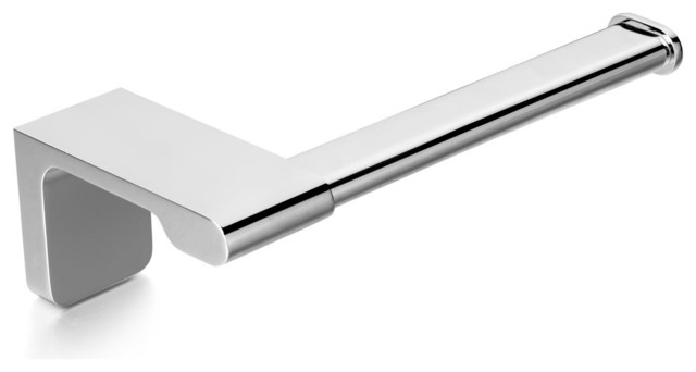 Dash Bathroom Toilet Roll Holder Polished Chrome Modern
