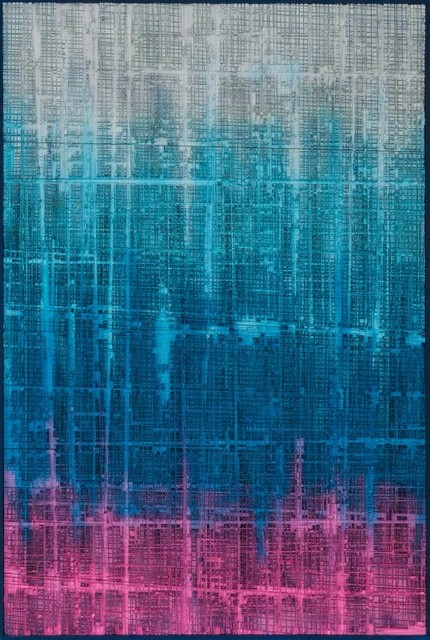 """""""the Rise From A Fallen City"""" Acrylic Painting."""