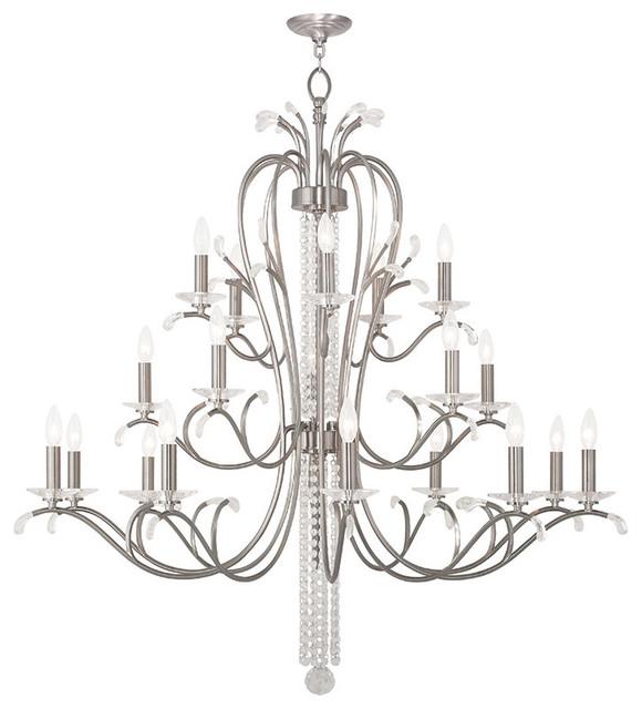 Traditional Foyer Chandeliers : Serafina foyer chandelier brushed nickel traditional