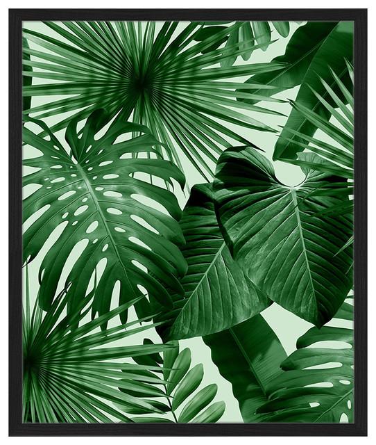 """Swiss Cheese Plant"" Framed Print, 50x60 cm"
