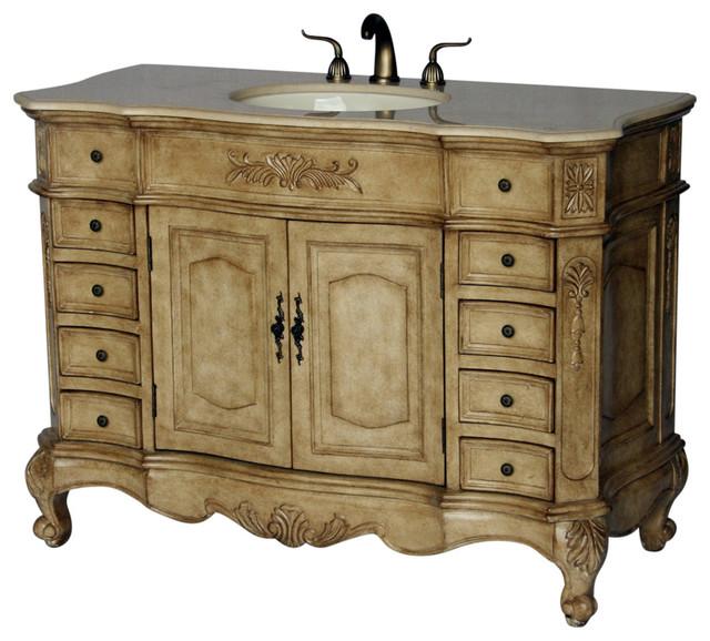 """48"""" Antique Style Single Sink Bathroom Vanity Model 2815-485 Be."""