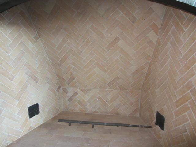 Herringbone Fireplace Brick Tile Pattern