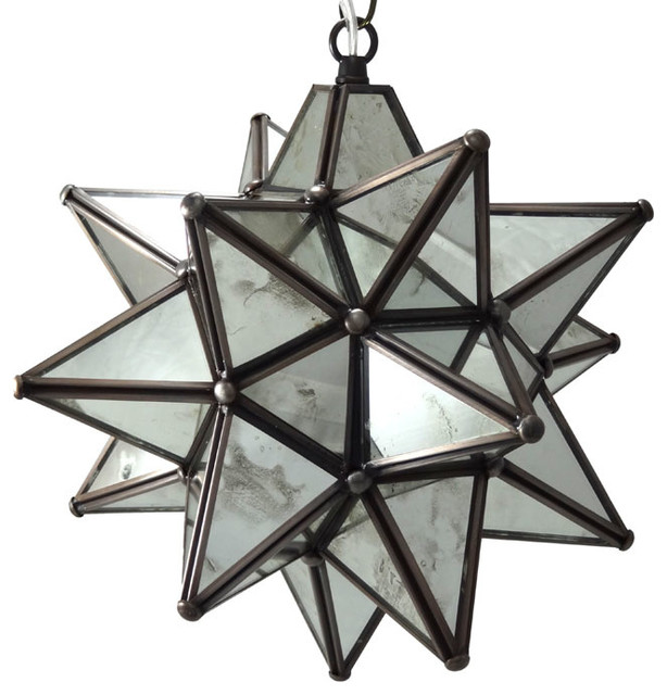 moravian star pendant light antique mirrored glass 12 contemporary pendant lighting by. Black Bedroom Furniture Sets. Home Design Ideas