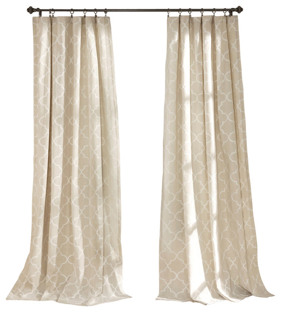 Geo Window Pannel Contemporary Curtains By Lush Decor