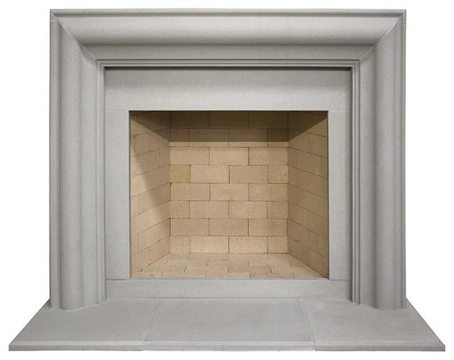 Soho Cast Stone Fireplace Mantel, Pearl