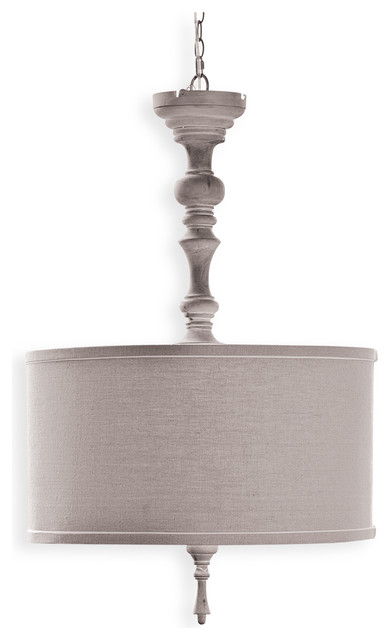 verlaine french country wood spindle pendant traditional