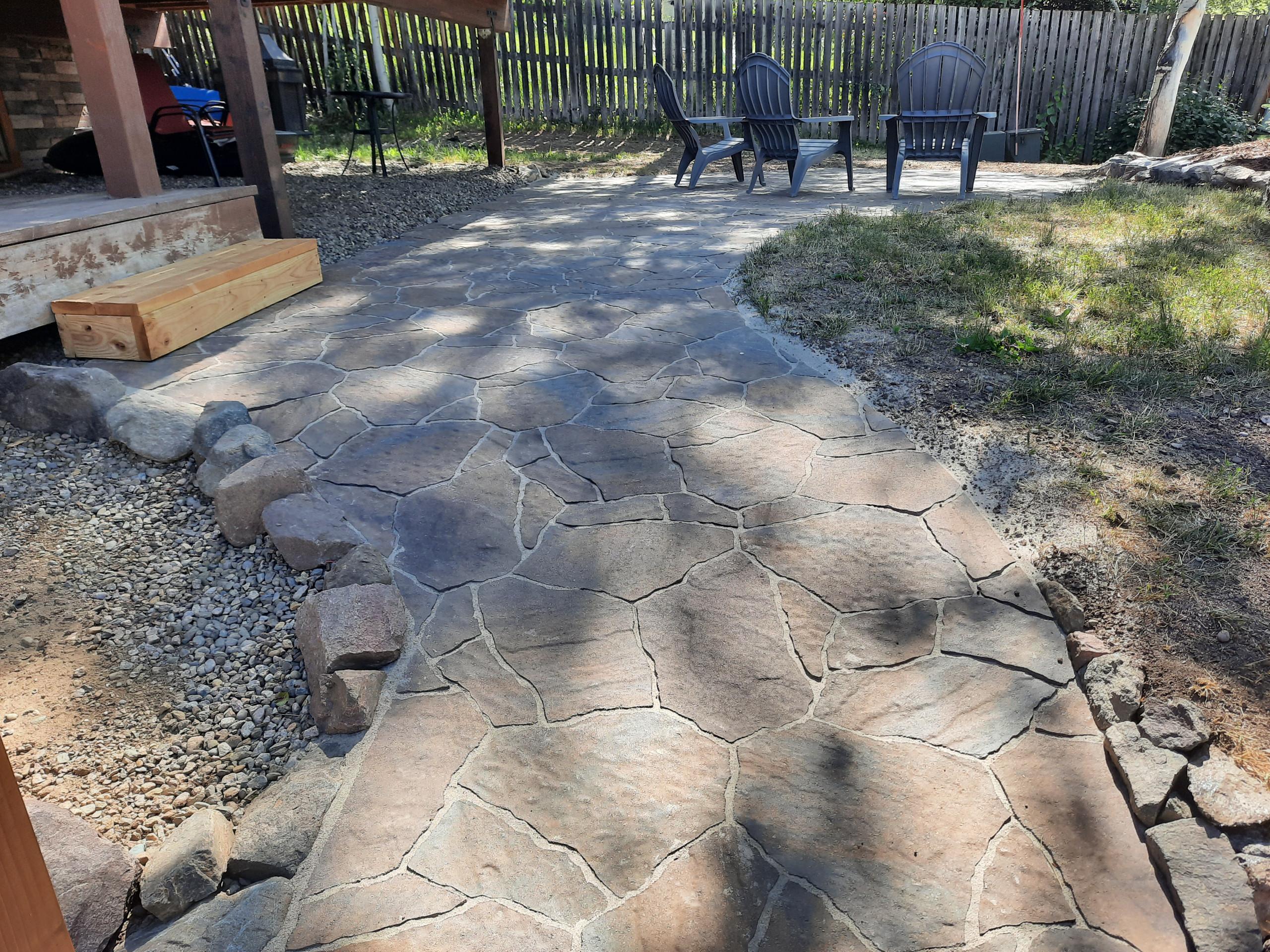 Stone Patio and Walkway