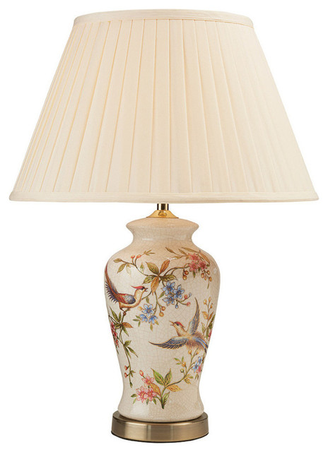 Helena Table Lamp, Cream