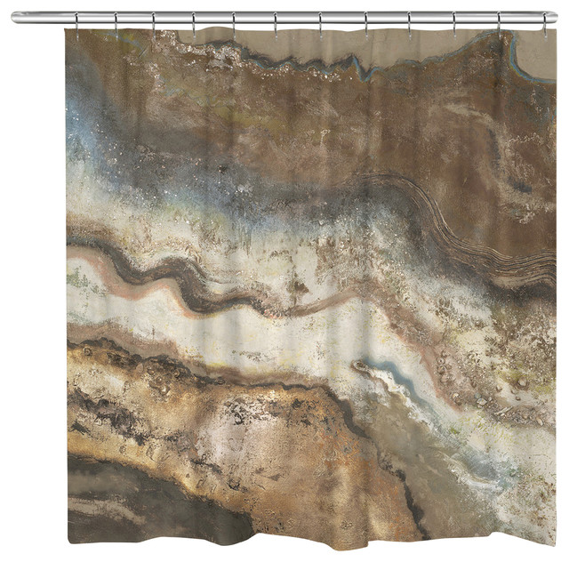 Laural Home Lava Flow Shower Curtain