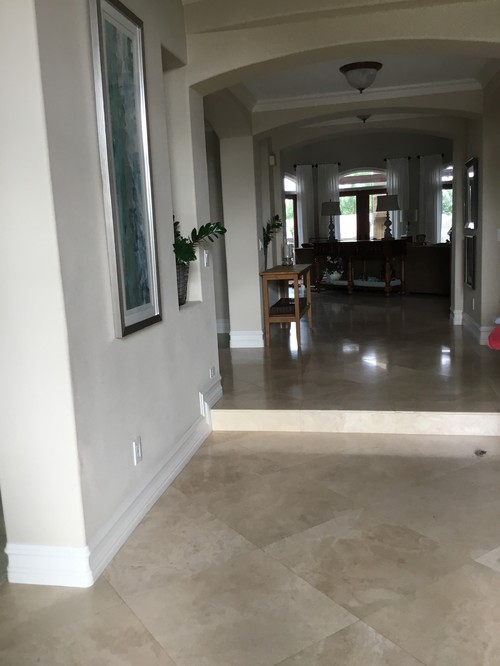 Mixing Wood And Travertine