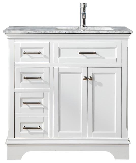 Elise 36 White Single Sink Bathroom