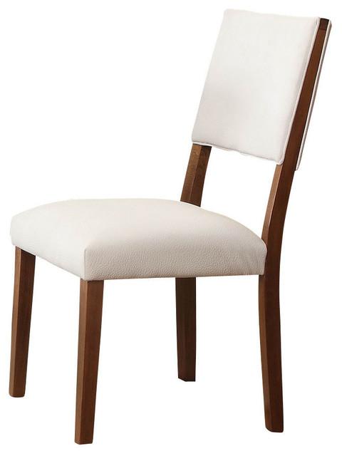 Homelegance Aria Side Chair In White Bi Cast Vinyl