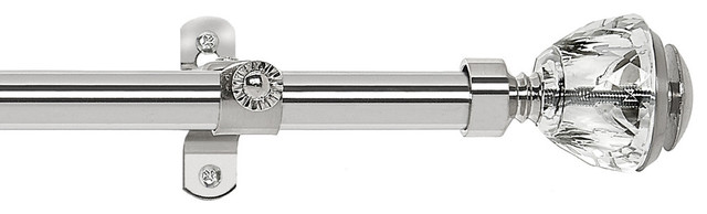 """Royale Decorative Rod And Finial Ritz, 28""""-48"""" Wide."""