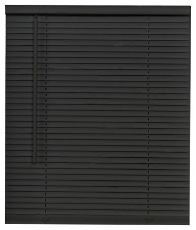 "Cordless Gii Morningstar 1"" Mini Blind 23""x64"", Black."