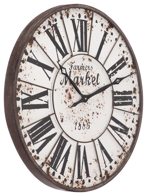 Zuo Decor Steel And Wood Wall Clock Antique
