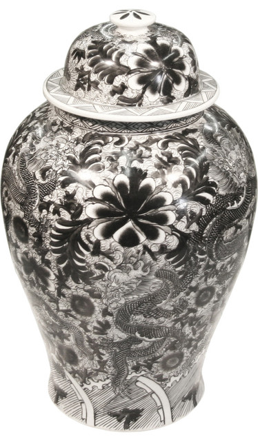 Black And White Ginger Jar