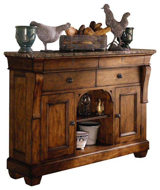 Kincaid Tuscano Solid Wood Sideboard With Marble Top