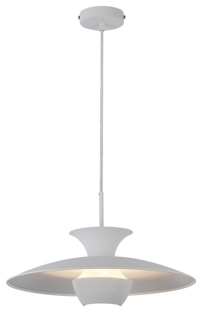 Emily Scandinavian Pendant Light, White