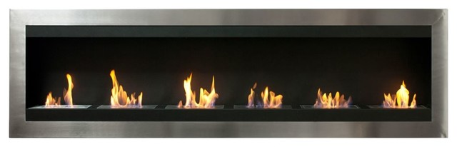 Ignis Maximum Wall Mounted Ventless Ethanol Fireplace With Glass.