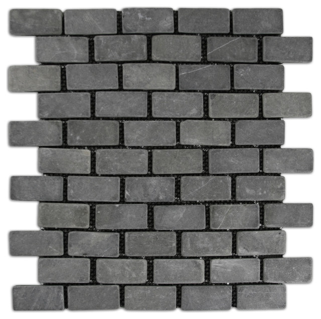 12 X12 Gray Mini Stone Subway Tile
