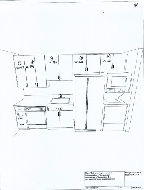 How much space should there be btw top of faucet bottom for Standard space between counter and upper cabinets