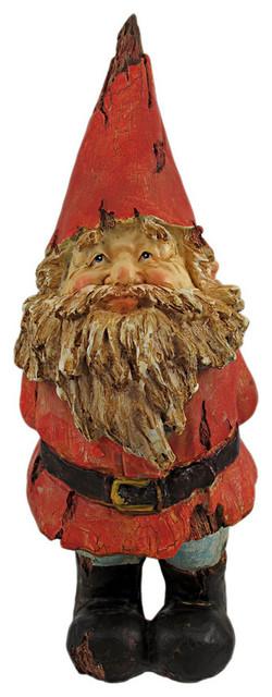 Gimme A Kiss Wooden Look Garden Gnome Statue Contemporary Garden  Statues And
