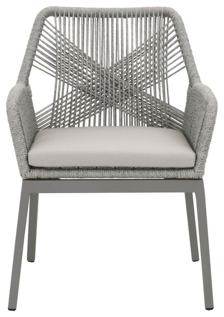 Loom Outdoor Dining Arm Chair, Set Of 2.